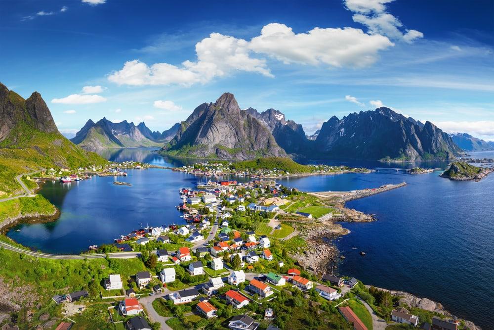 Lofoten i Norge