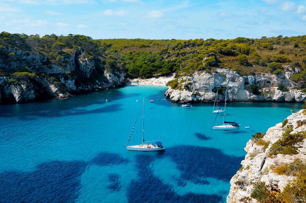 Macarelleta stranden - Menorca i Spanien