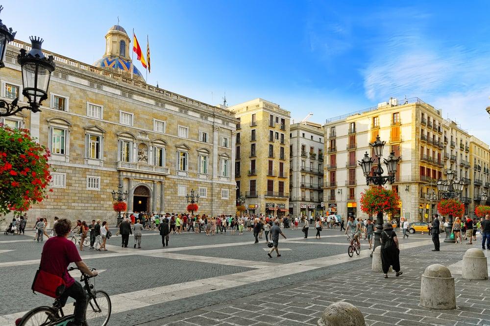 Placa de Sant Jaume - Barcelona i Spanien
