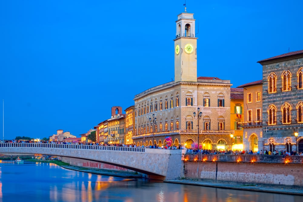 Ponte di Mezzo - Pisa i Italien
