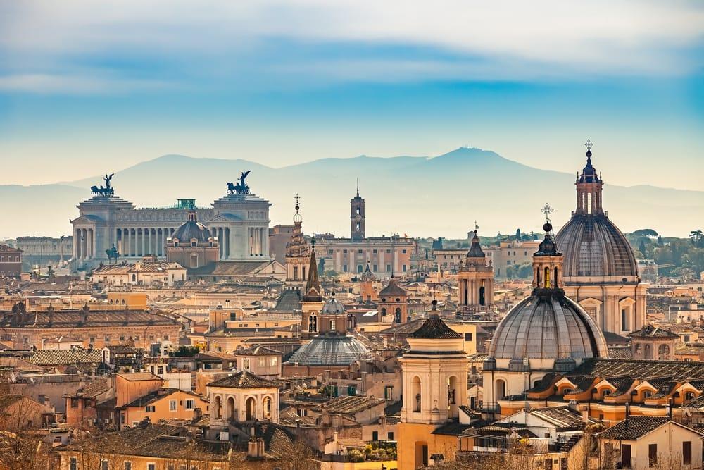 Rom set fra Castel Sant Angelo - Italien