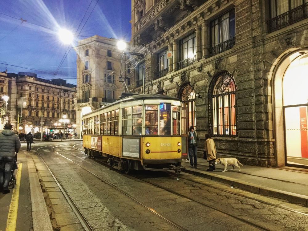 Sporvogn i Milano - Italien