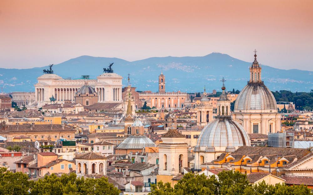 Udsigt over Rom i Italien