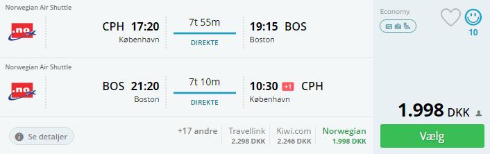Billige flybilletter til Boston