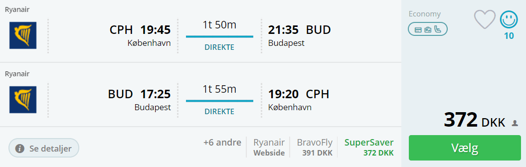 Flyv billige til Budapest i Ungarn
