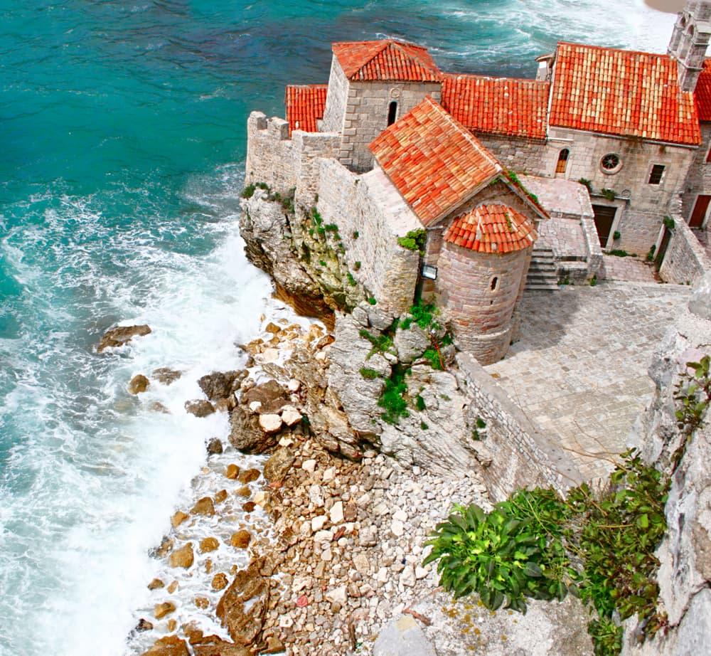 Den gamle bydel i Budva - Montenegro