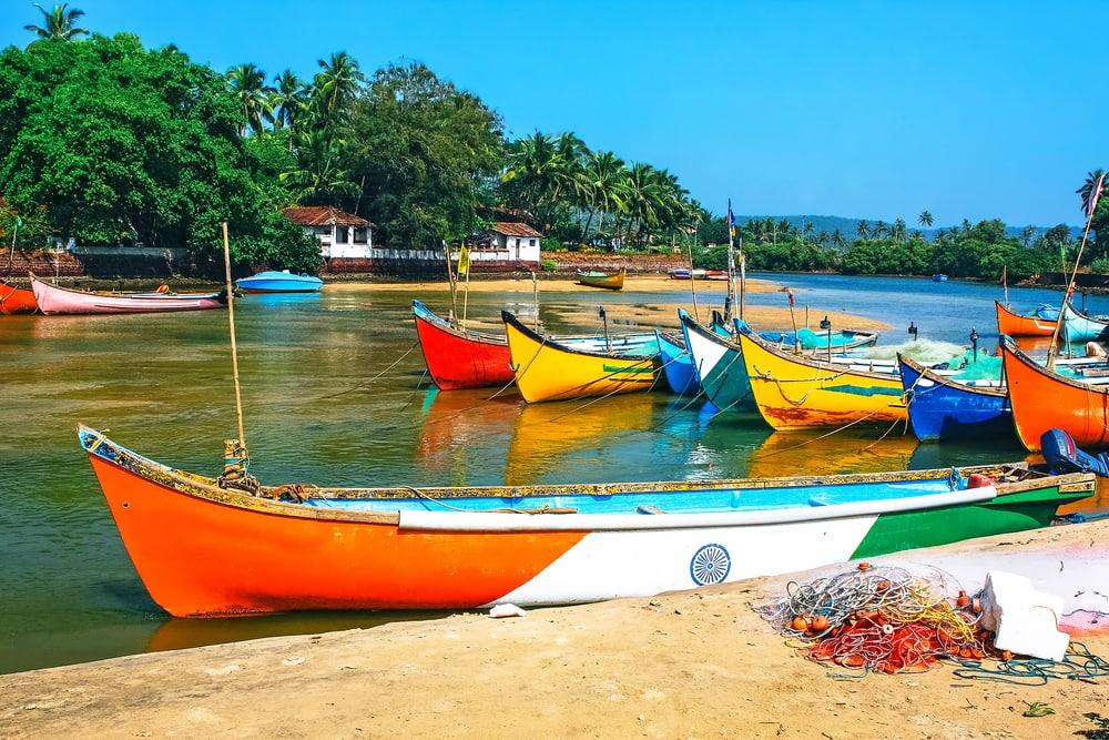 Fiskebåde - Goa i Indien