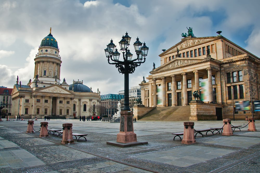 Gendarmenmarkt pladsen - Berlin i Tyskland