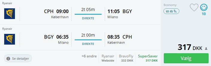 Flyv billigt til Milano