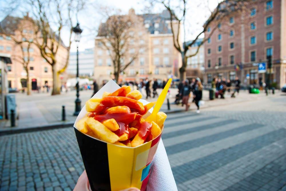 Belgiske fritter - Bruxelles i Belgien