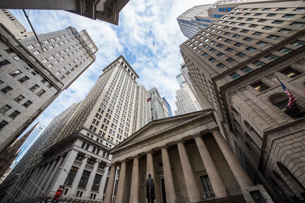 Finansdistriktet Wall Street - New York City i USA