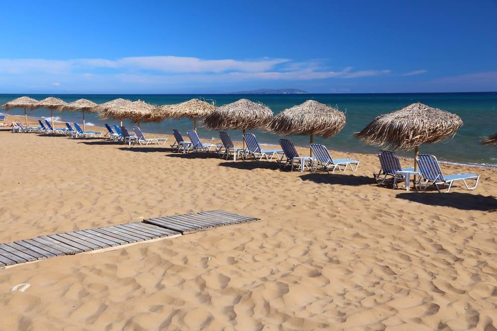 Gardenos stranden - Korfu i Grækenland
