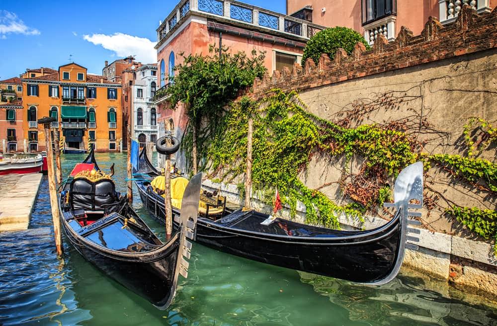 Gondoler i Venedig - Italien