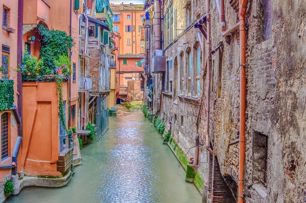 Kanal i Bologna - Italien
