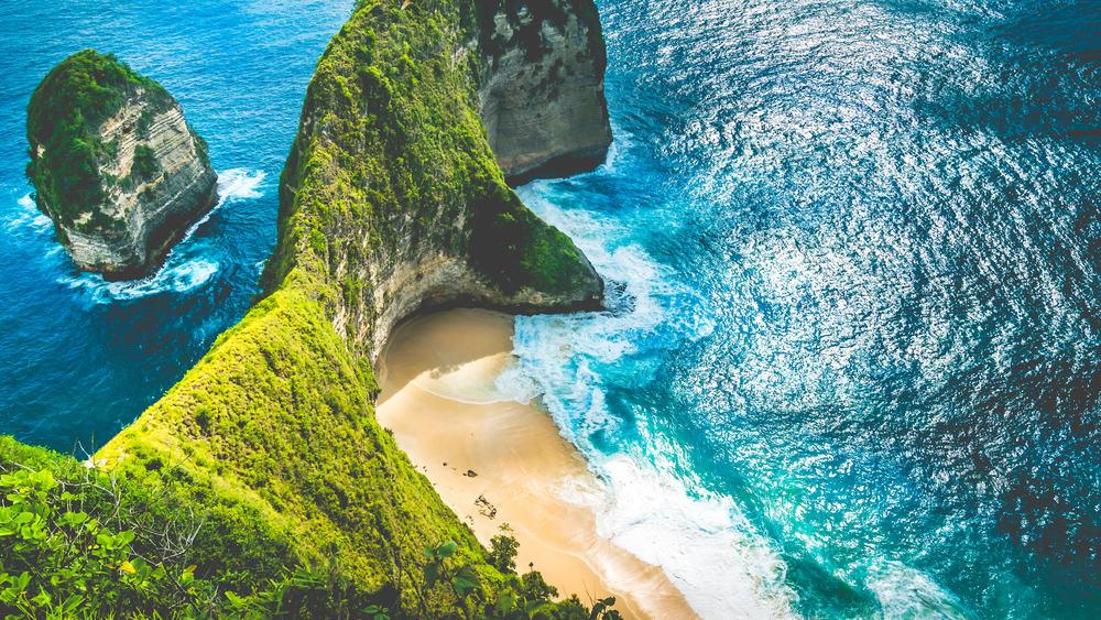 Kelingking stranden - Bali i Indonesien
