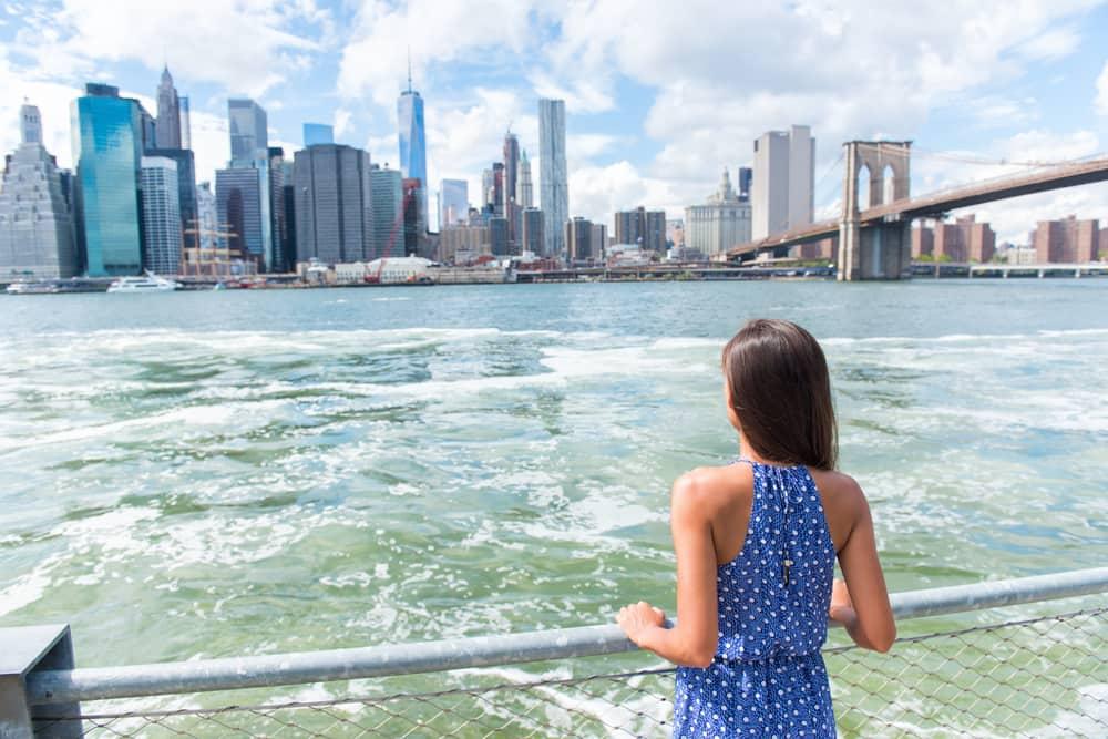 Manhattan skyline - New York i USA