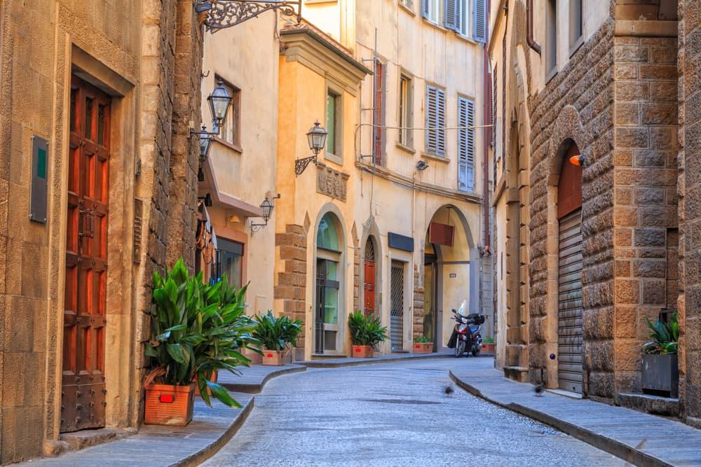 Smal gade i Firenze - Toscana i Italien