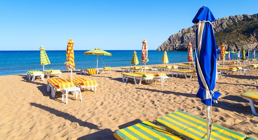 Tsampika stranden - Rhodos i Grækenland