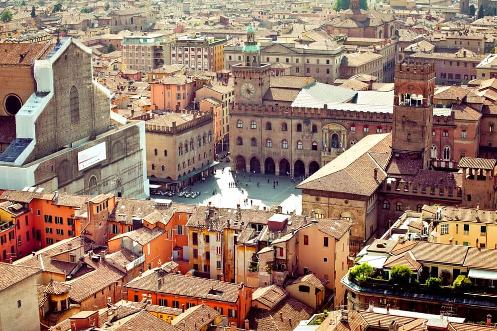 Udsigt over Bologna i Italien