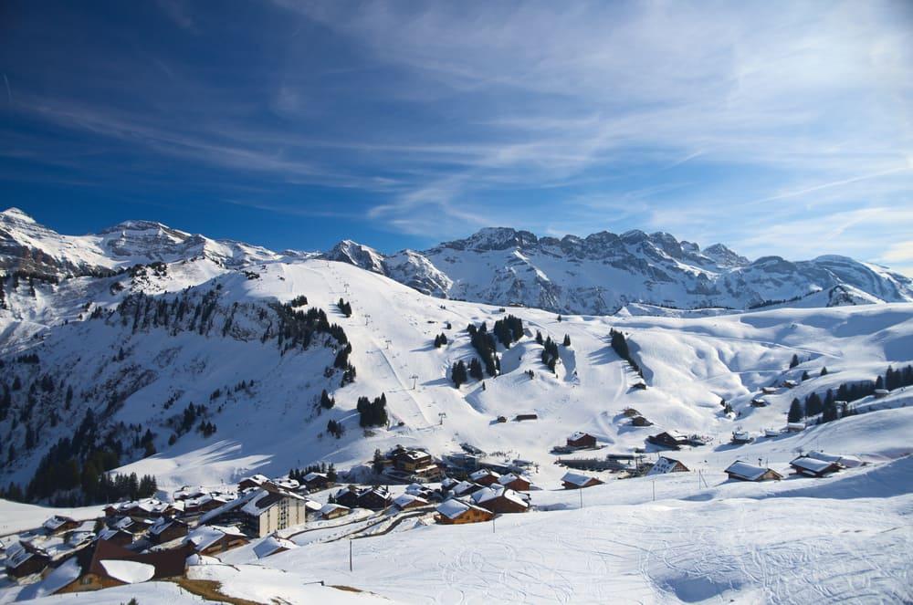 Skisportsområdet Avoriaz i Frankrig