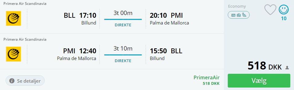 Billige flybilletter til Mallorca i Spanien