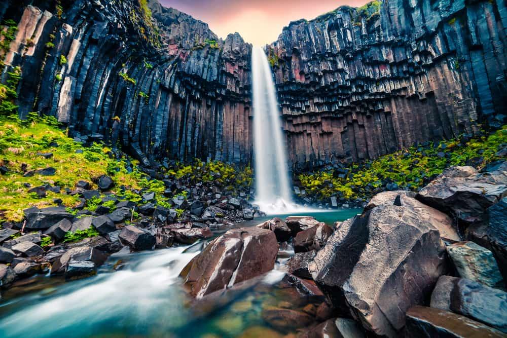 Svartifoss vandfaldet - Island