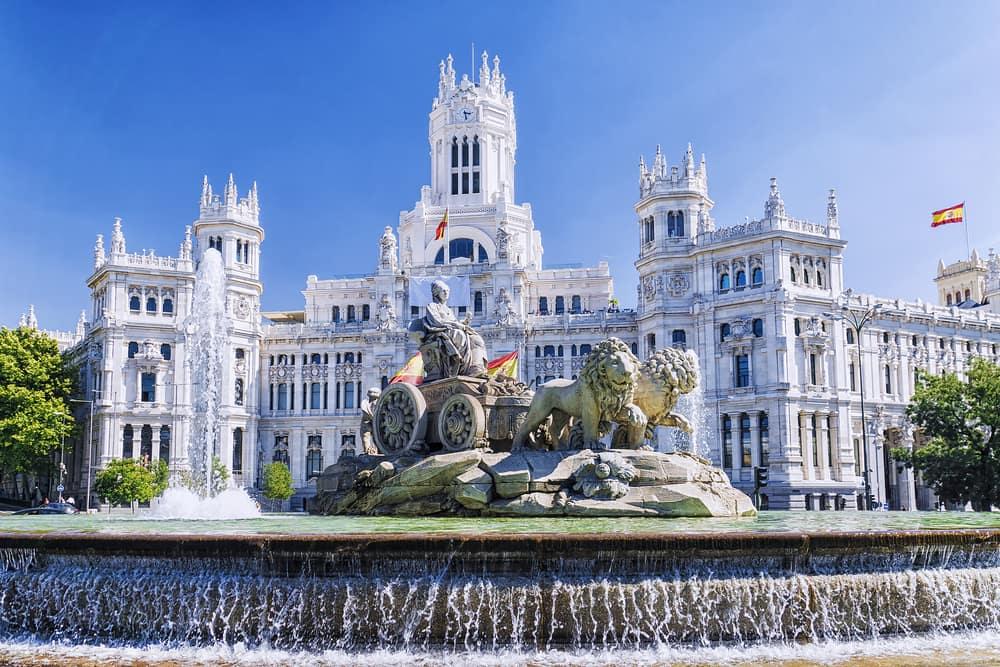 Cibeles springvandet - Madrid i Spanien