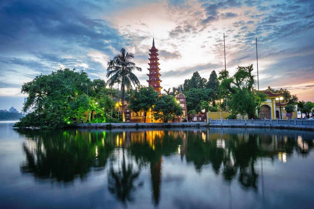 Tempel i Hanoi - Vietnam