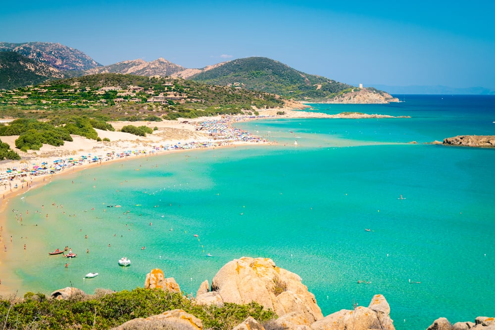 Strand i Chia - Sardinien i Italien