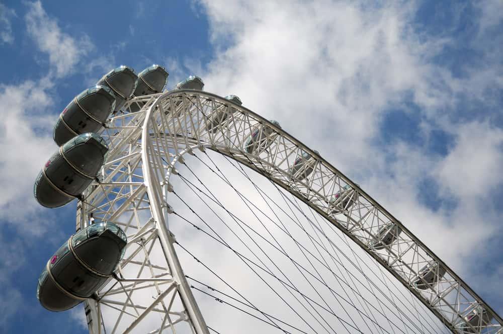 London Eye set nedefra