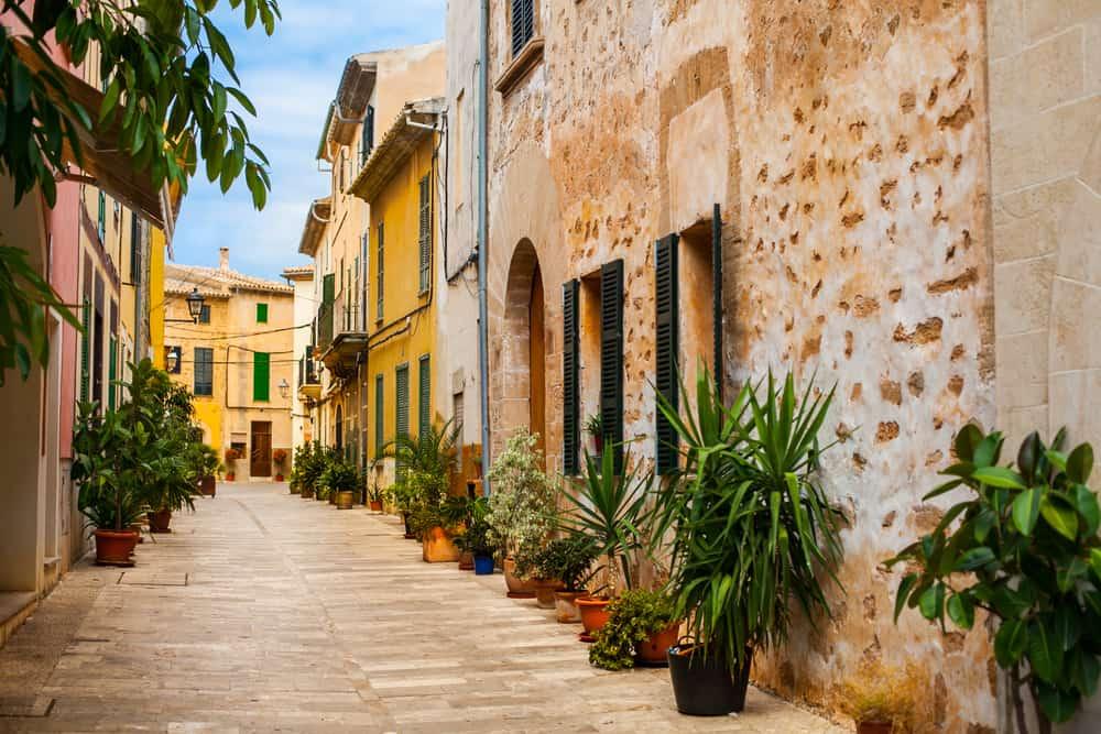 Alcudia på Mallorca i Spanien