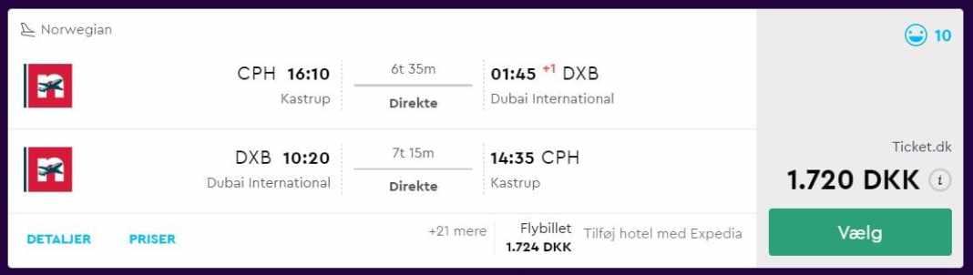 Billige flybilletter til Dubai med Norwegian