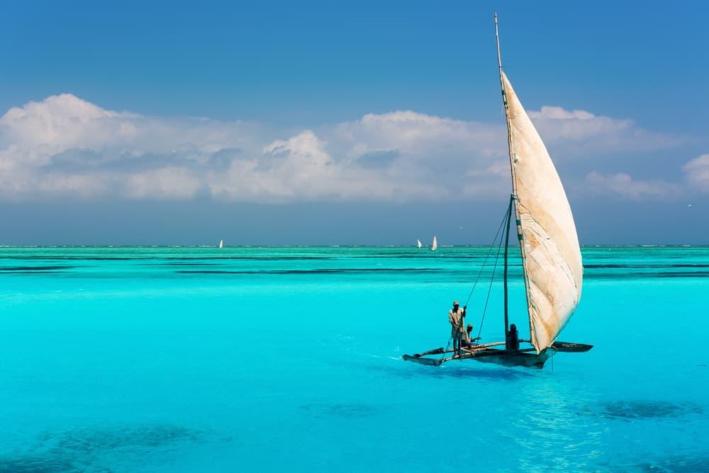 Mnemba Atoll på Zanzibar i Tanzania
