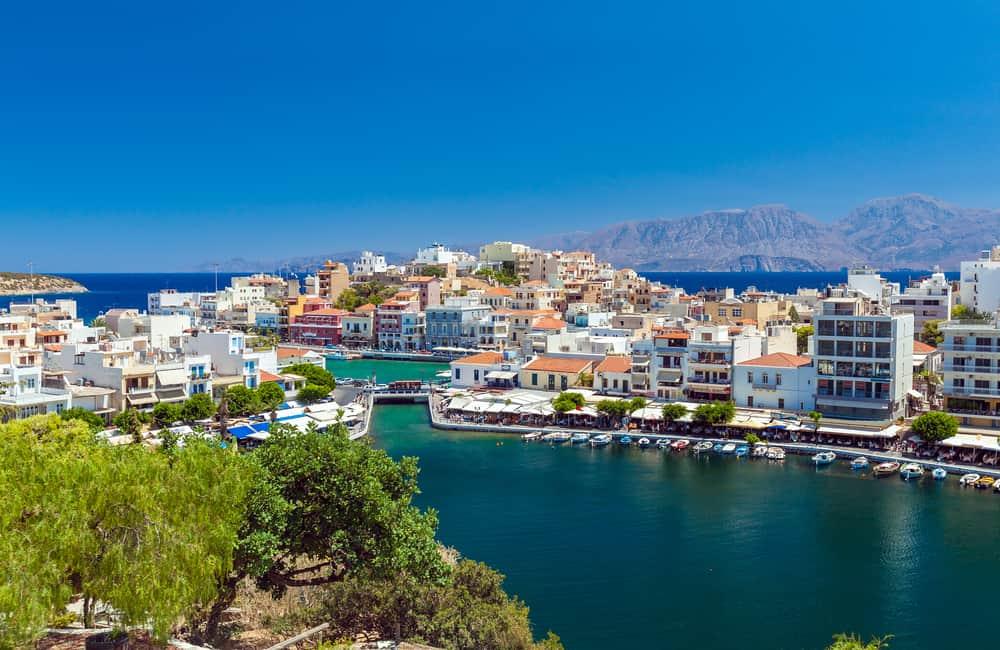 Udsigt over Agios Nikolaos på Kreta