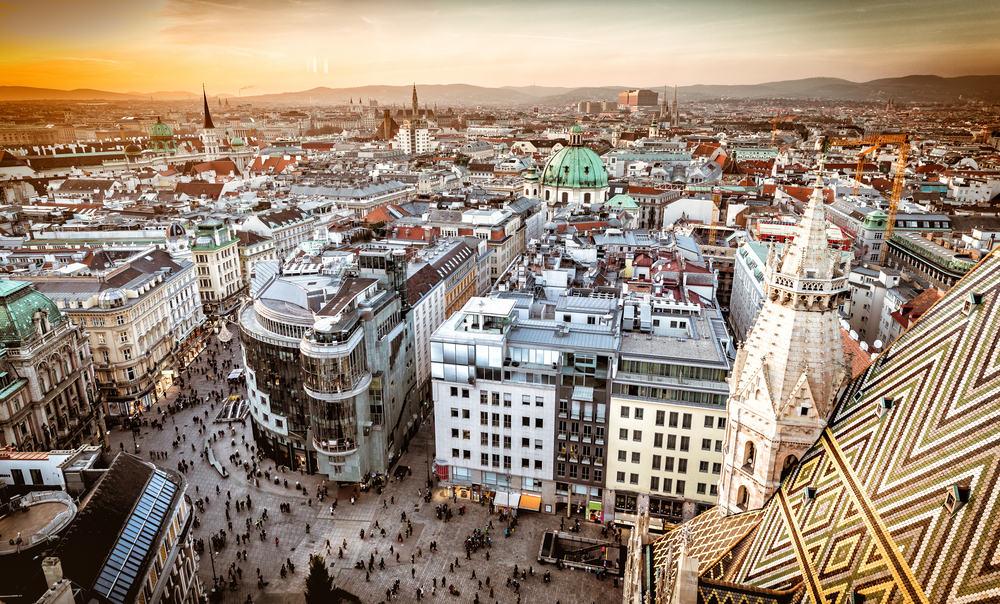 Solnedgang i Wien - Østrig