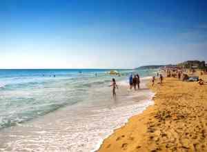 Stranden i Sunny Beach i Bulgarien