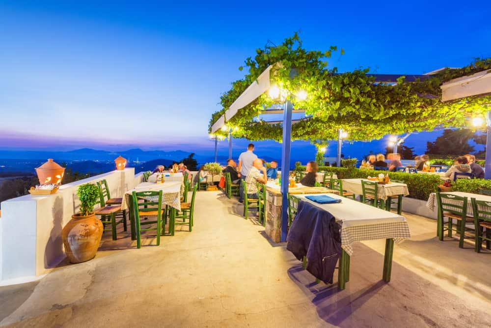 Restaurant på Kos i Grækenland