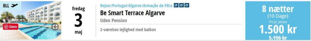 Charterferie i Algarve i Portugal