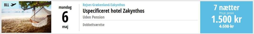Charterferie i Zankynthos - Grækenland
