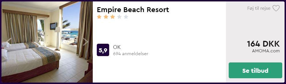 Empire Beach Resort - Hurghada i Egypten