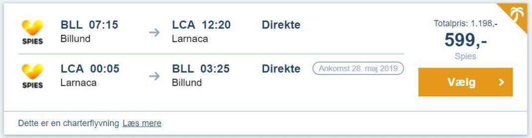 Flybilletter fra Billund til Larnaca - Cypern