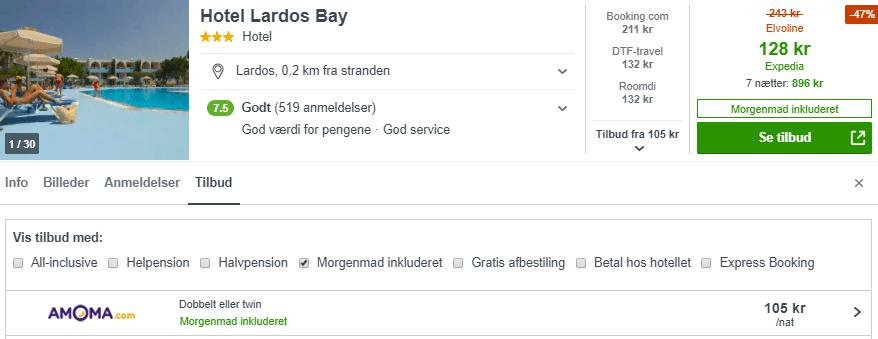 Hotel Lardos Bay - Rhodos i Grækenland