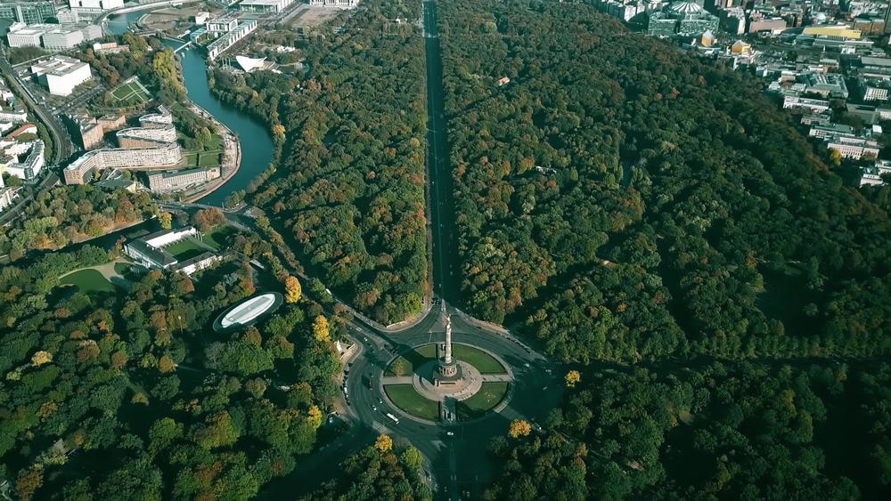 View over Tiergarten i Berlin