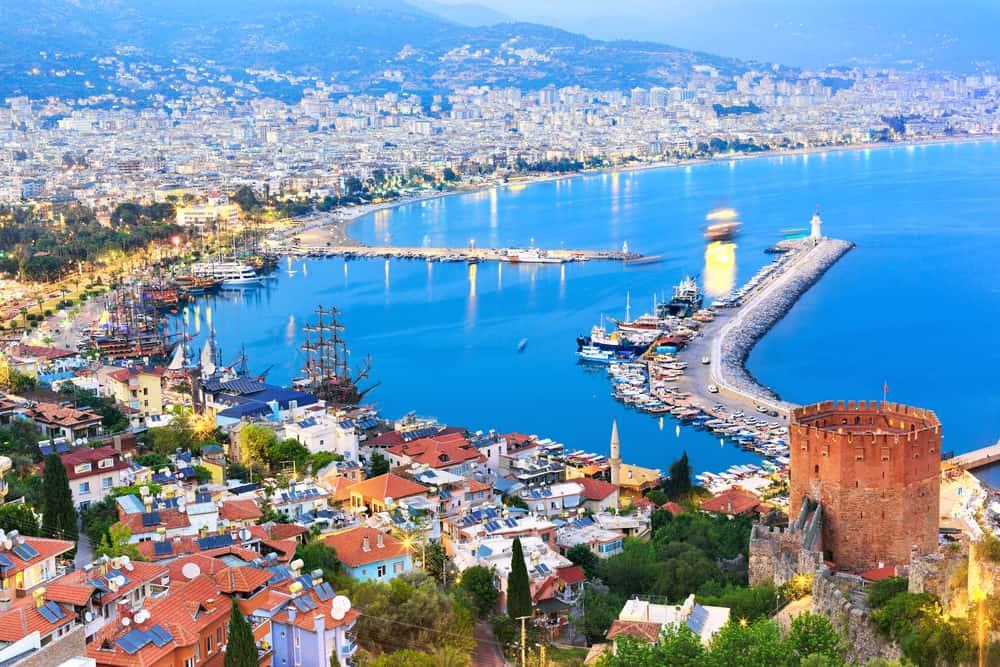 Alanya havn i Tyrkiet