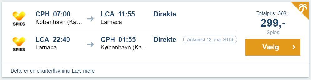 Flybilletter fra København til Larnaca på Cypern