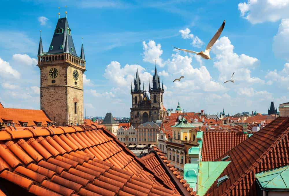 Udsigt over Prags tage - Tjekkiet