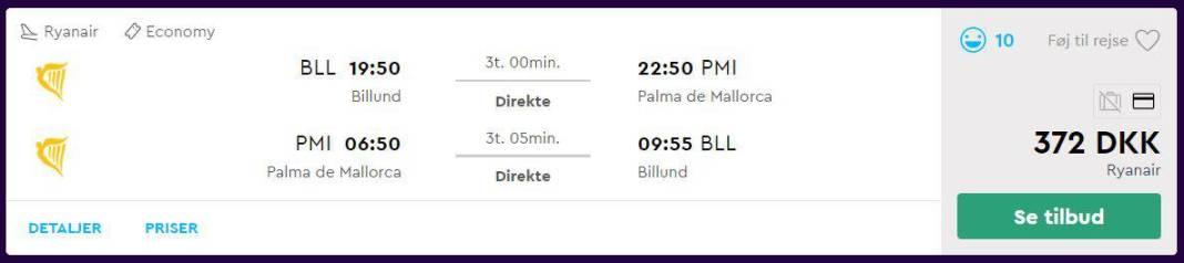 Billige flybilletter til Mallorca