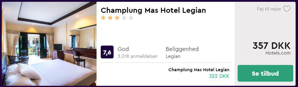 Champlung Mas Hotel Legian - Bali