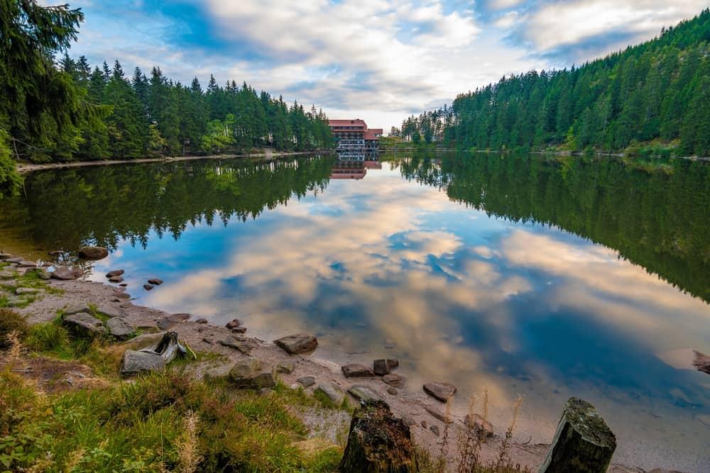Mummelsee i Schwarzwald - Tyskland