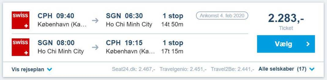 Billige flybilletter til Ho Chi Minh City i Vietnam